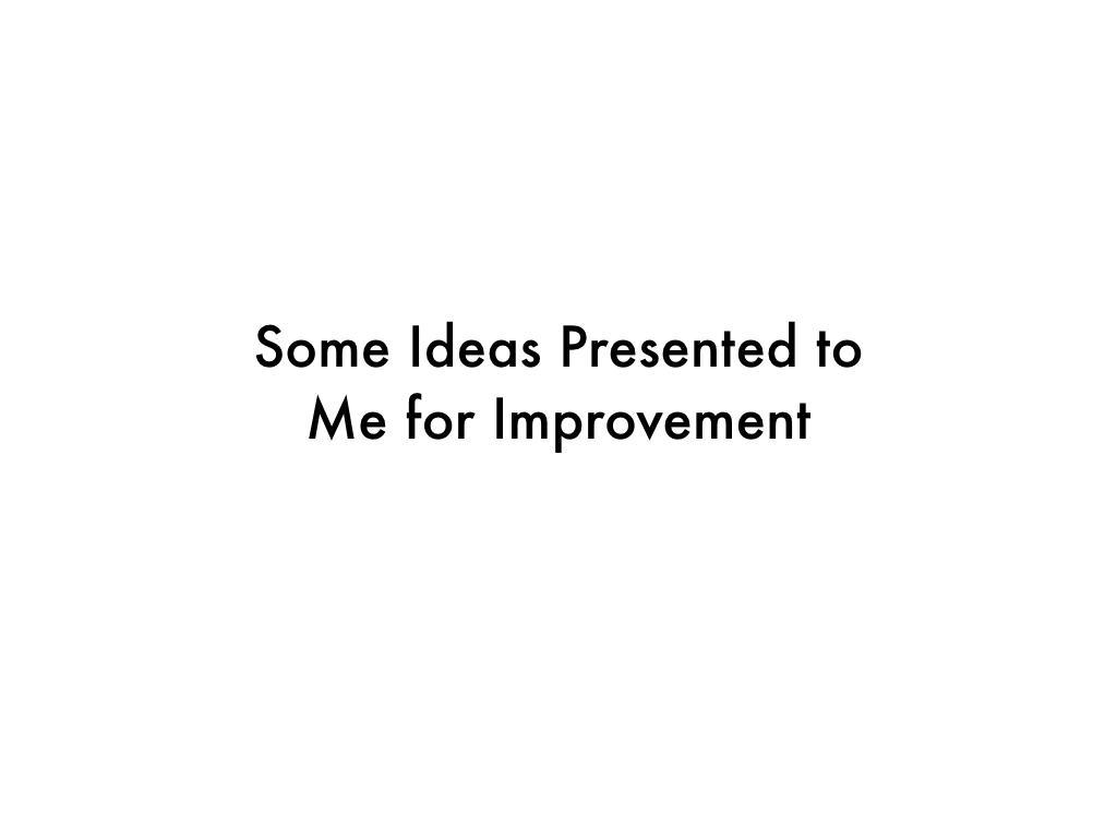 First Ideas