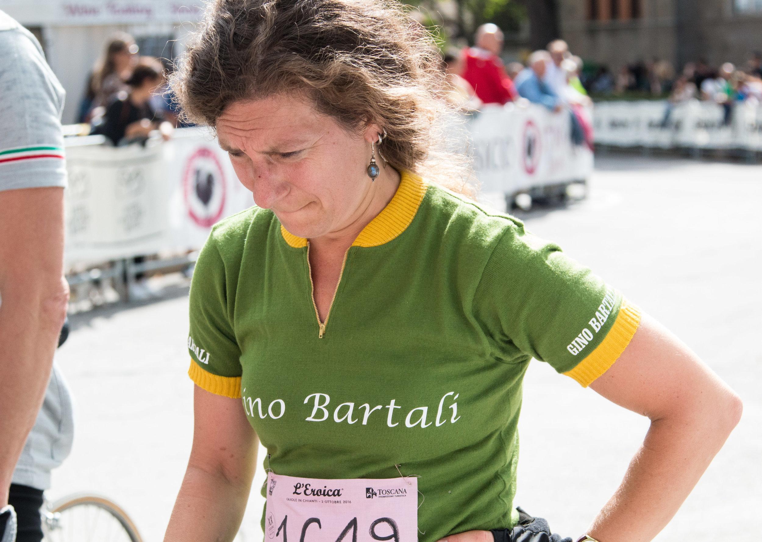 Squadra Bartali at the finish