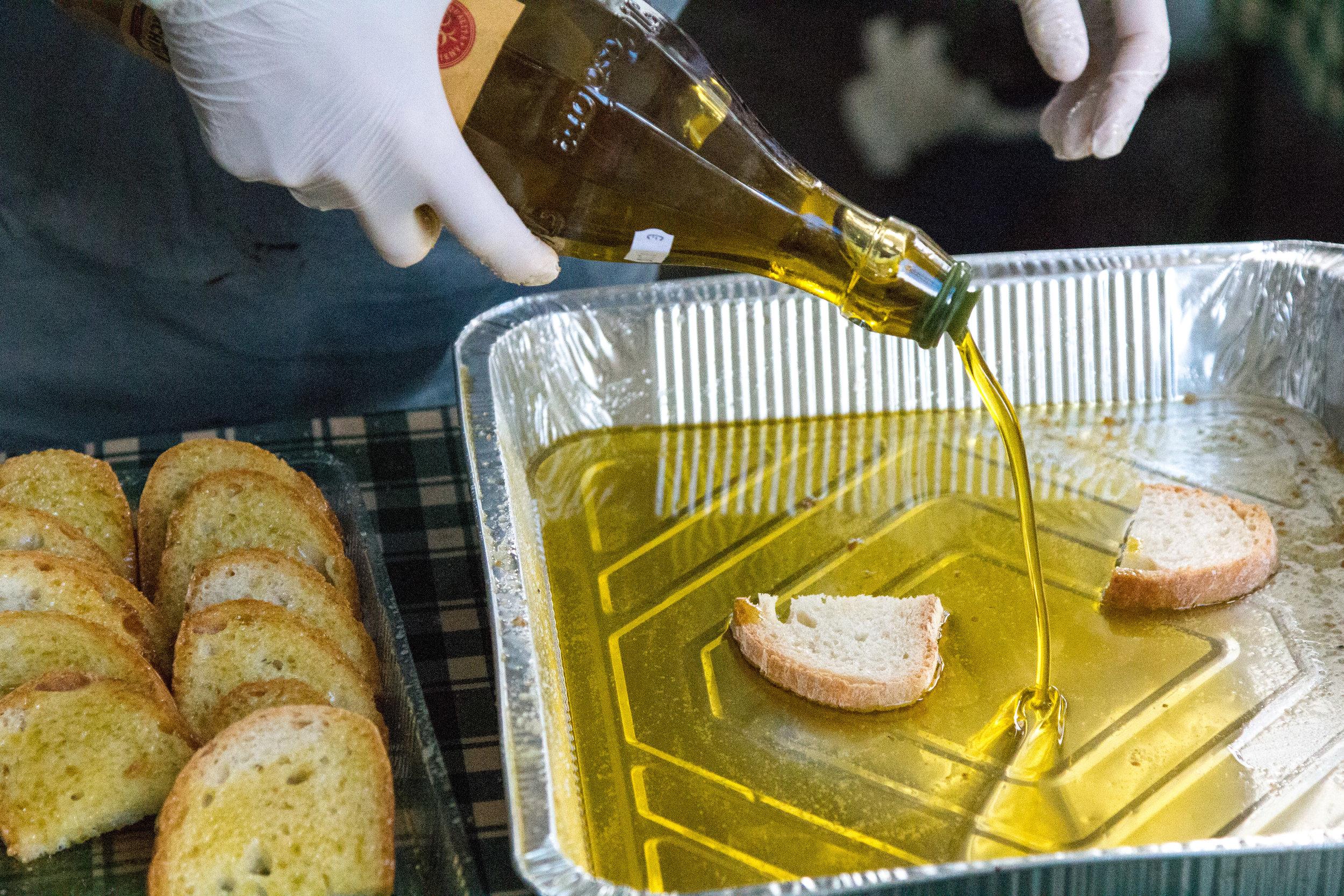 Pane e l'olio d'oliva