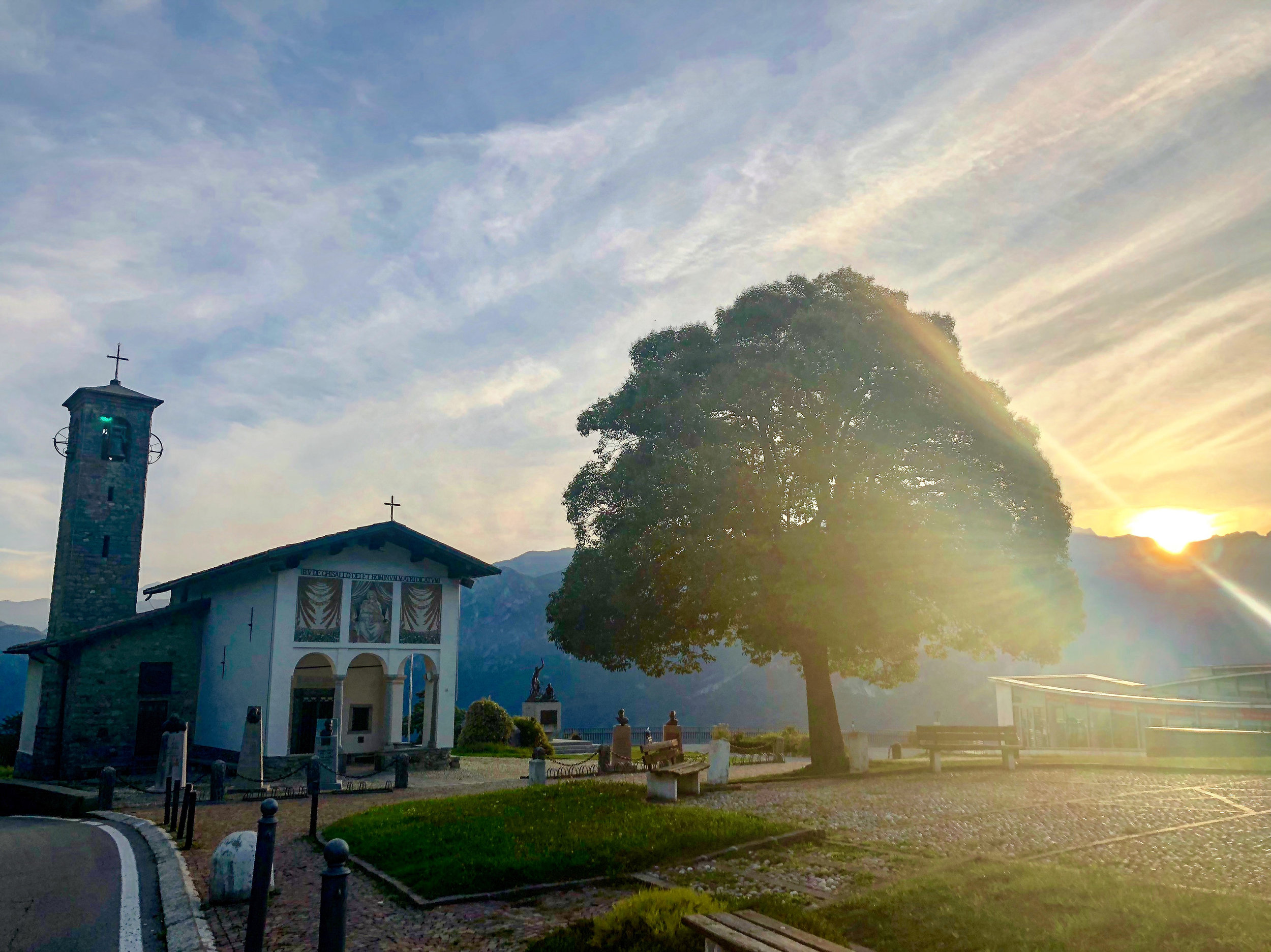 Just up the hill from Hotel Il Perlo is the Madonna del Ghisallo chapel, home to the Patron Saint of Cyclists.