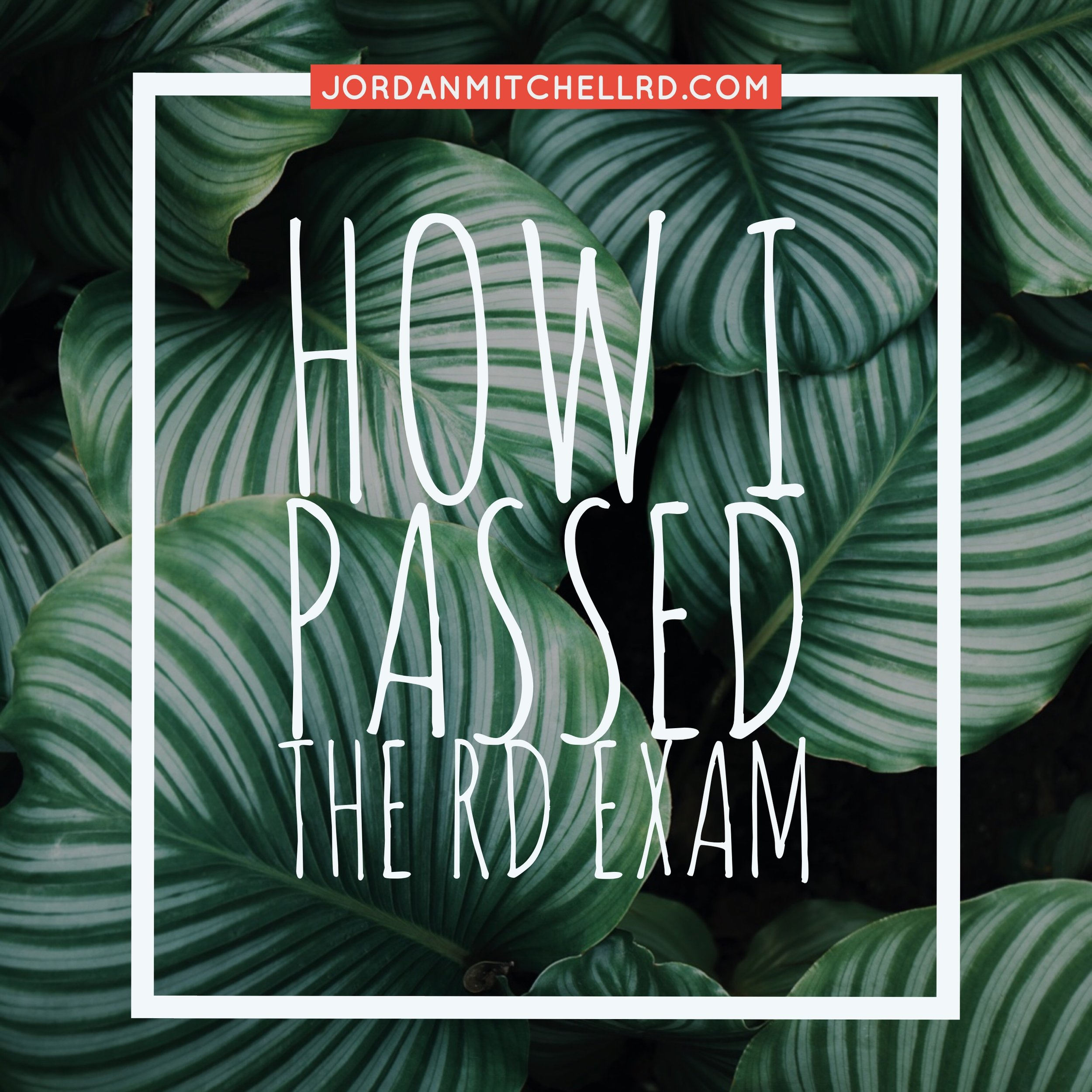 How I Passed the RD Exam 2017 Jordan Mitchell // Tips, tricks, and resources used to pass the Registered Dietitian Exam!