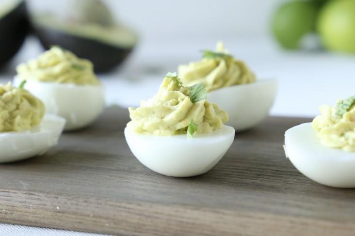 10 Healthy Spring Sides: Avocado Deviled Eggs