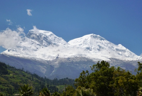 Huascaran, the highest peak in Peru, at 22,199 feet