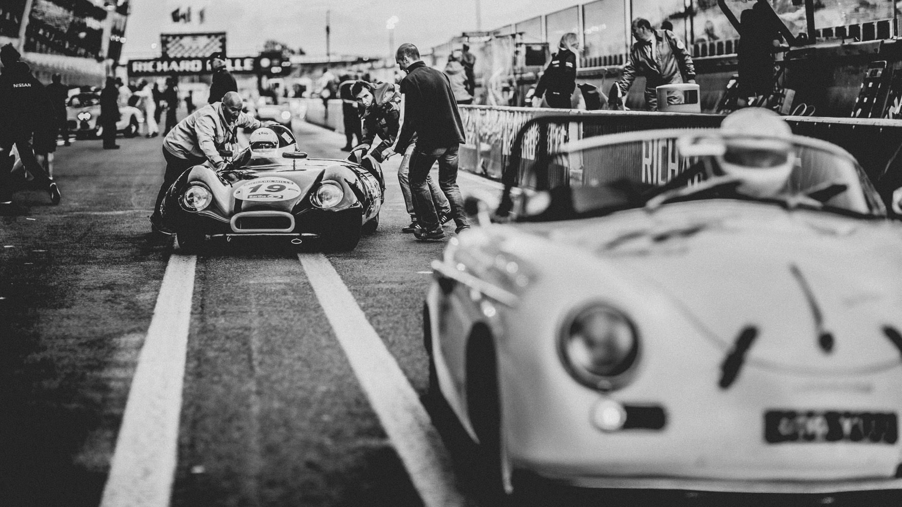 A photo from the 2012 Le Mans Classic.
