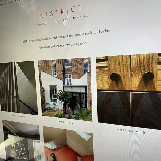 Bit of website progress pending a full re-launch later this year. #district #architects #riba #dulwich #london #igers