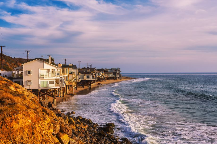 Five of the top ten most expensive neighborhoods in the LA area are in Malibu.  Nick Fox | Shutterstock