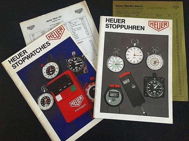 Heuer catalogues... . . #VintageHeuer #HeuerCatalog #HeuerAllSportsI  #Montblanc #Heuer #Leonidas #TagHeuer #Stopwatch #VintageStopwatch #vintage #Andhora #Omega #Rolex #Breitling #WatchFam #OldTimer #Seiko #WatchFam #VintageCurators #VintageHeuer #Stopwatch #Stopwatches #HeuerStopwatch #Rareheuer #RareBreitling #MonteCarlo #HeuerMontecarlo #andhora #Hodinkee #vintage #VintageHeuer #vintageWatch #Omega #Rolex #TagHeuer #Breitling #VintageStopwatch