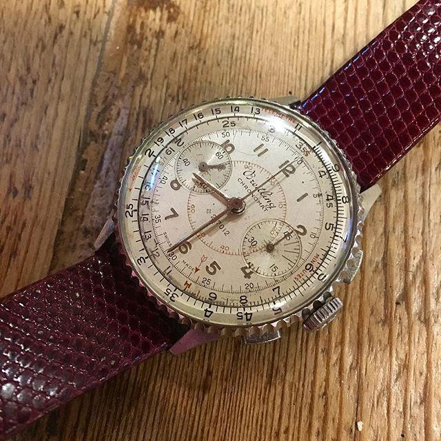 Breitling Chronomat 769, from 1941. . . . #VintageBreitling #BreitlingChronomat #Chronomat769 #VintageBreitlingChronomat #Chronomat769  #Montblanc #Heuer #Leonidas #TagHeuer #Stopwatch #VintageStopwatch #vintage #Andhora #Omega #Rolex #Breitling #WatchFam #OldTimer #Seiko #WatchFam #VintageCurators #VintageHeuer #Stopwatch #Stopwatches #HeuerStopwatch #Rareheuer #RareBreitling #MonteCarlo #HeuerMontecarlo #andhora #Hodinkee #vintage #VintageHeuer #vintageWatch #Omega #Rolex #TagHeuer #Breitling #VintageStopwatch
