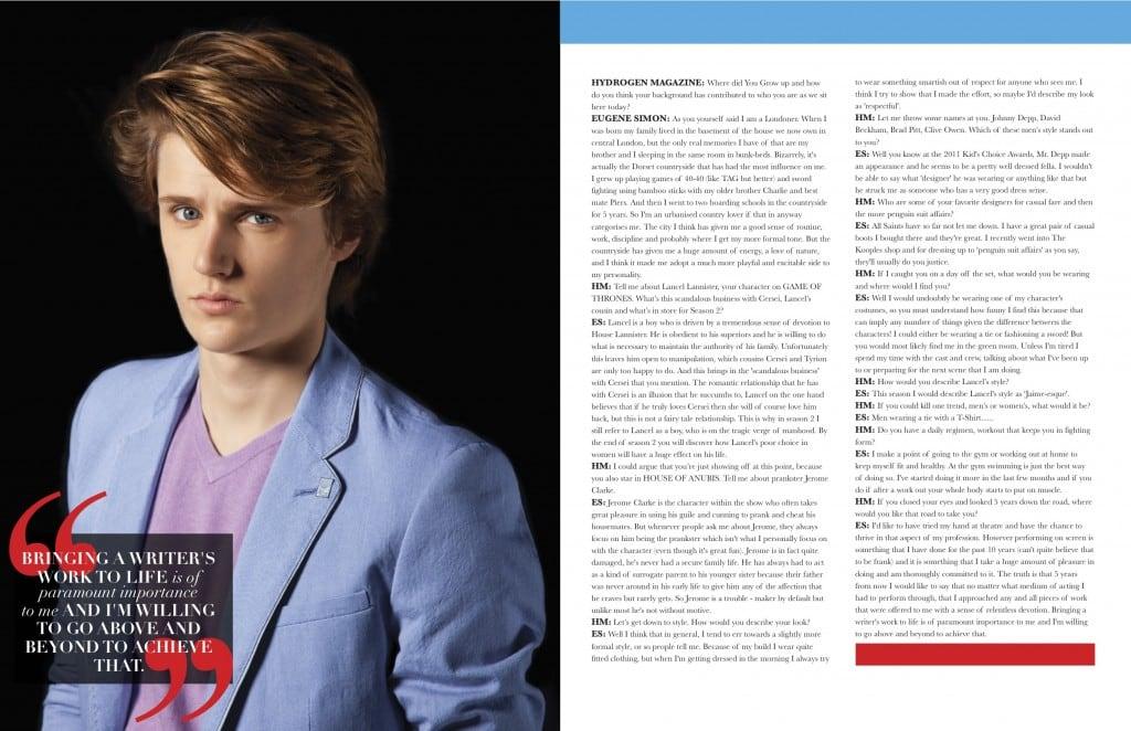 Hydrogen Magazine Editorial Eugene Simon Game of Thrones 3.jpg