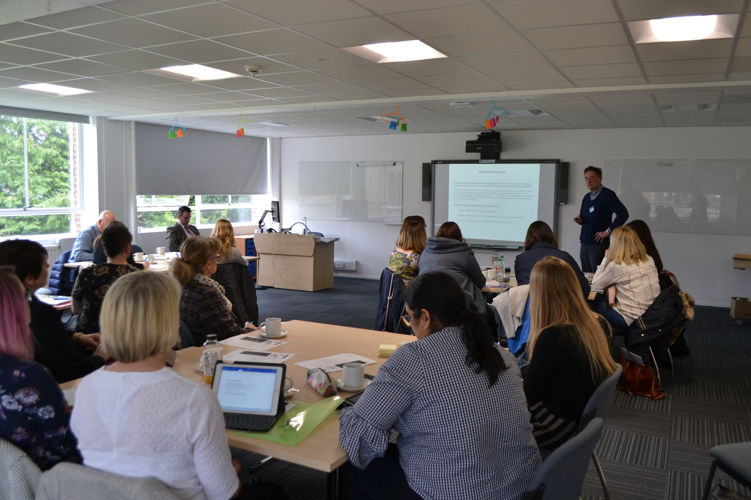 David Reedy from Cambridge Primary Review presenting at the 2018 spring seminar