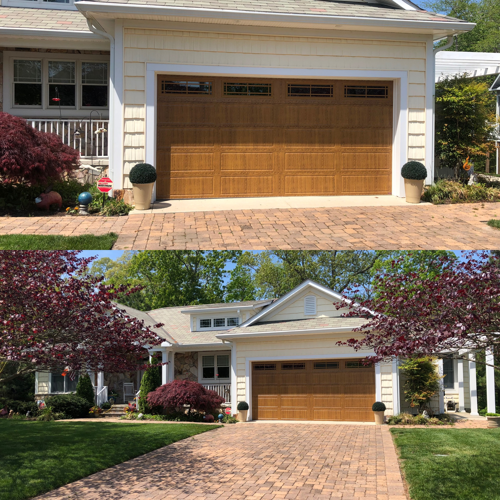 """Replacing a garage door has never been so easy and rewarding. The reviews on the Expert Overhead Doors website indicated a high satisfaction rating and also alerted owner, Randy, to our interest in his services. He contacted us immediately and visited the same day to talk personally about his company and how he could create the garage door design that we wanted. Randy returned the next day with samples, price , and a starting date for the project. Randy and his crew were very professional, thorough, informative, and great to work with. As a result, we have a beautiful garage door that enhances the beauty of our home even more. Thank you Expert Overhead Doors for a fantastic job well done.""""  -Teri Dunbar & Maureen Keenan"""