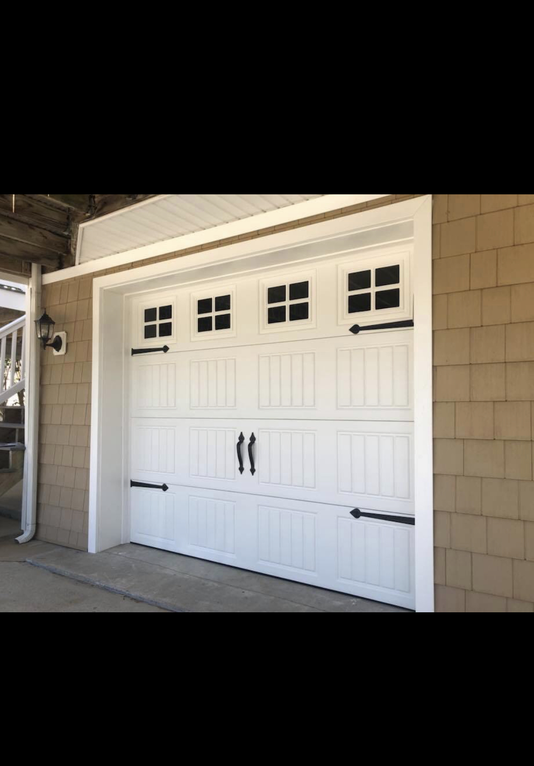 """""""Great family owned and operated business - really good people and professional in all regards.  Had a new insulted vinyl door installed on an attached garage which will help keep the house warm/cool, and the door is sturdy and secure which is great for the storms that hit us.  Never thought I would be so happy about a new garage door.  Thanks!""""  -M K"""