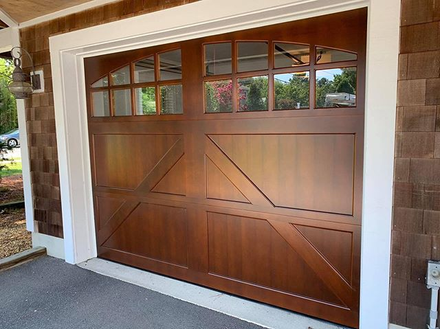 Installed a new wood door today. This thing is so nice. Clopay