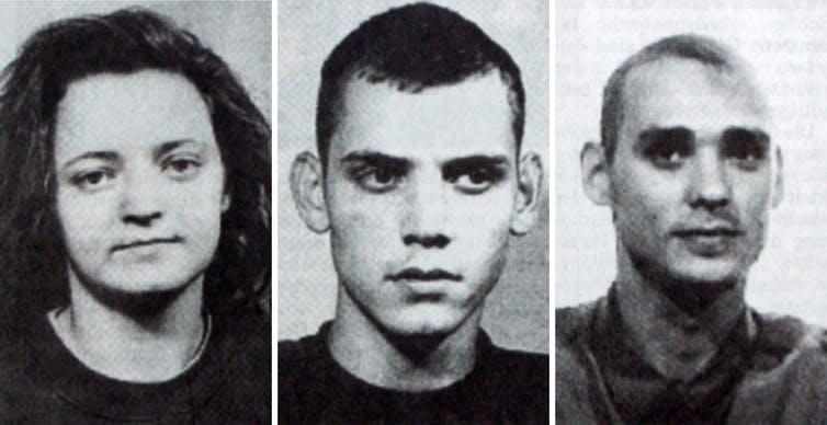 (Beate Zschape, Uwe Boehnhardt, and Uwe Mundlos)