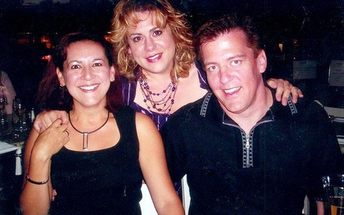 Sylvia Pardo (far left) and Bruce Pardo.