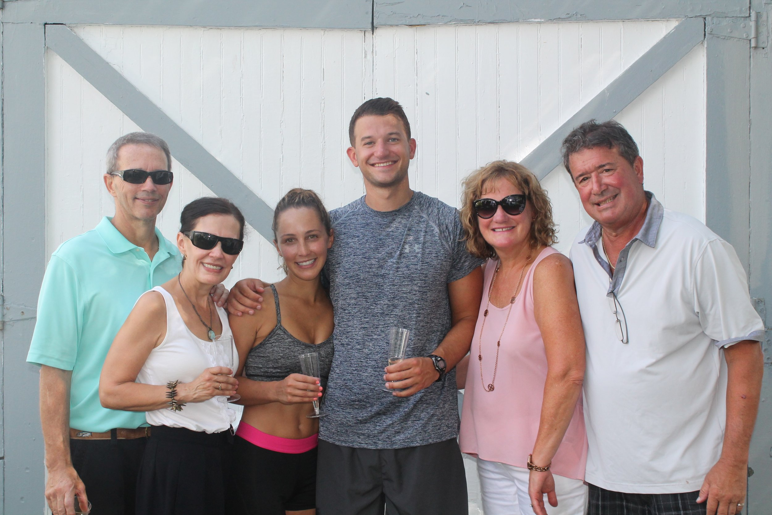 The Sperduto's & The Allman's after the proposal celebrating our soon-to-be new family