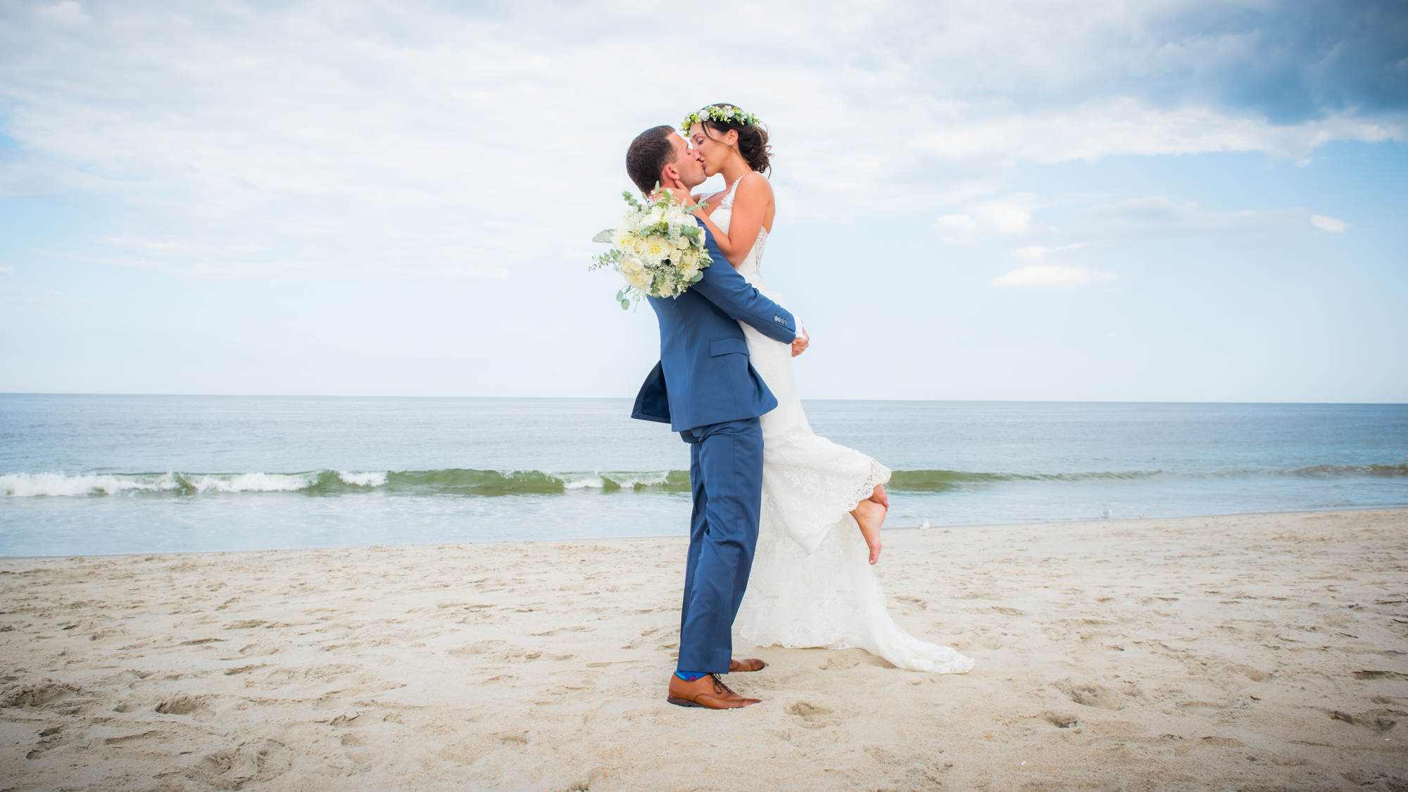 beach wedding flower crown
