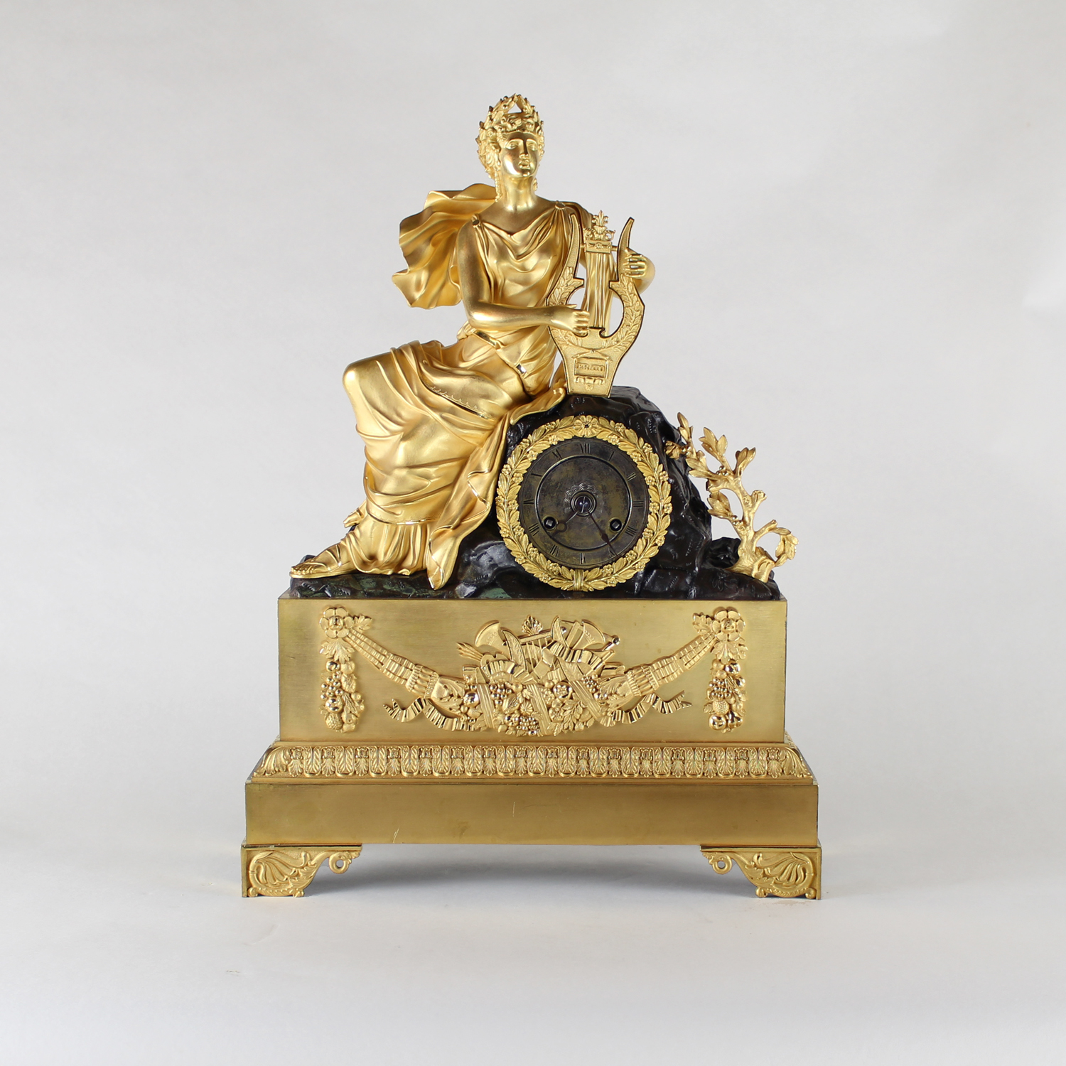 French Clock Ormolu and Bronze