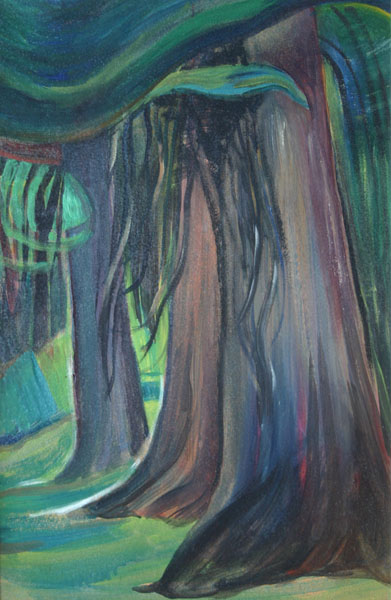 Emily Carr (Canadian 1871-1945) 'Deep Forest'