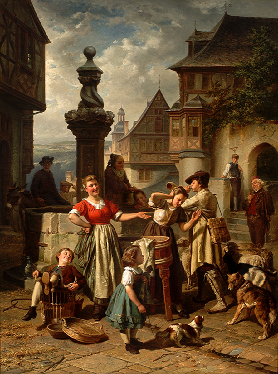 Theodore Gerard (Belgian 1829-1895) Returned From The Fields 1869
