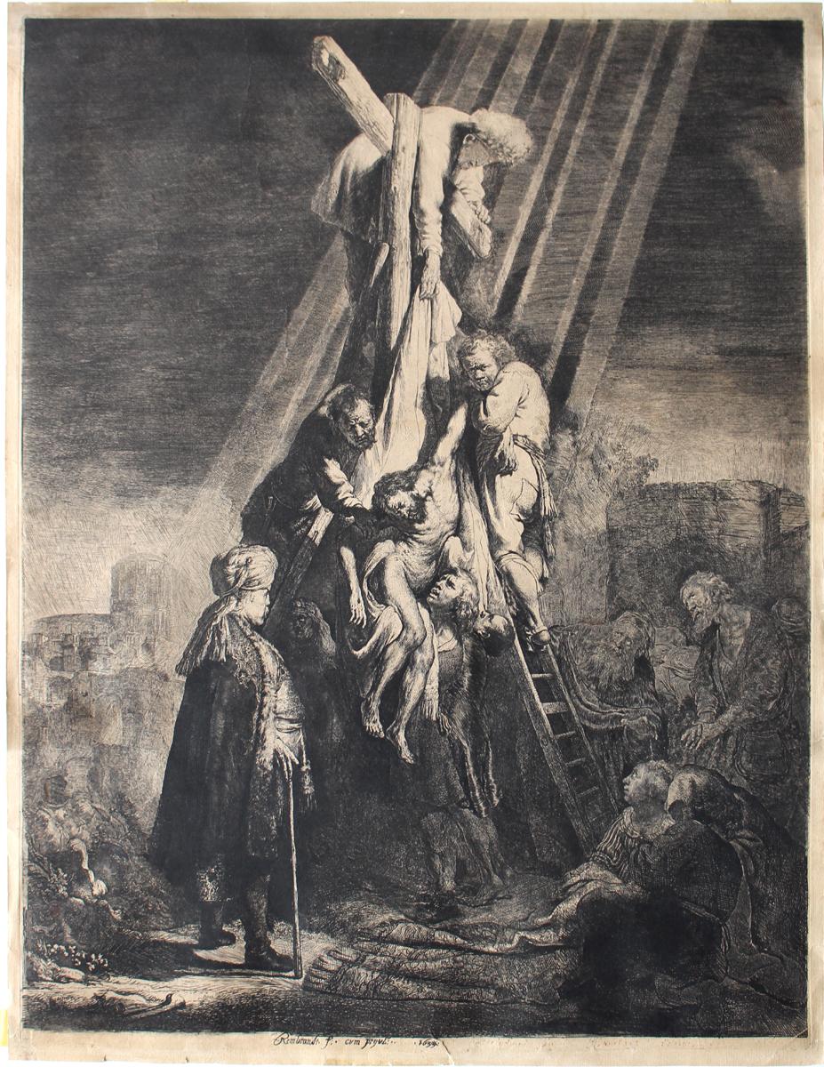 Rembrandt Harmensz Van Rijn (Dutch 1606-1669) Descent From The Cross