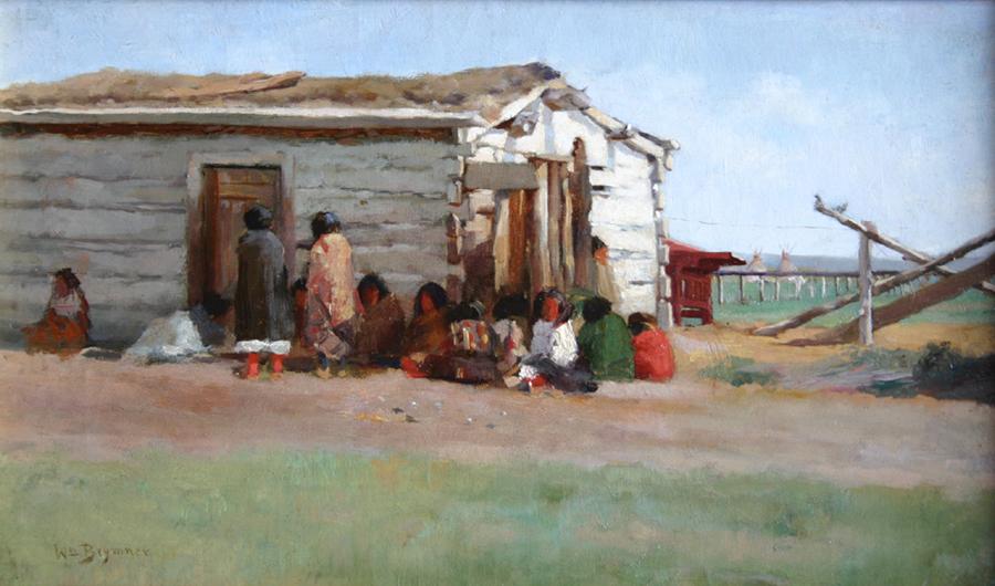 William Brymner (Canadian 1855-1925) An Indian School