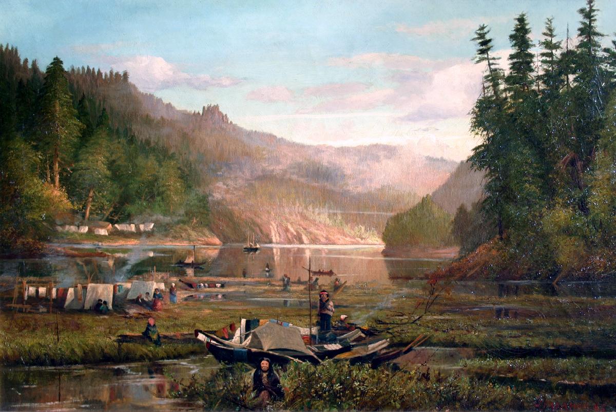 John Paramor (19th Century) Saanich Arm Indian Encampment 1885