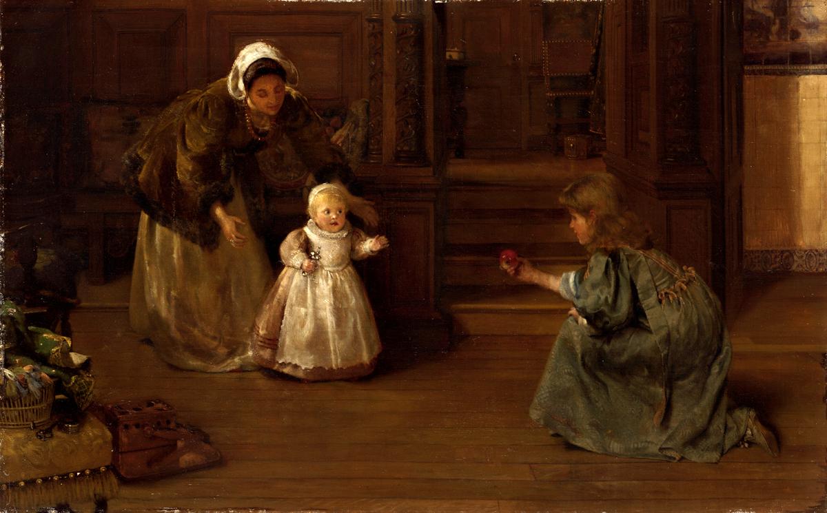 Lady Laura Theresa Alma-tadema (British 1852-1909) Nothing Venture, Nothing Have