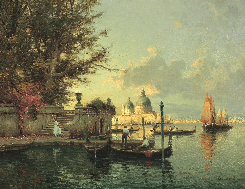 Auguste Bouvard/Marc Aldine (French 1882-1956) The Grand Canal, Venice