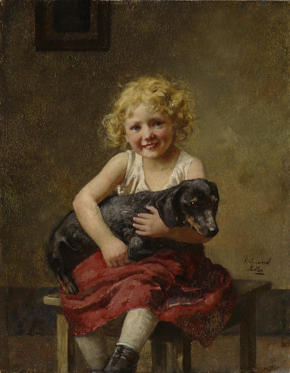 Edmund Adler/Rode (Austrian 1876-1965) Best Friends