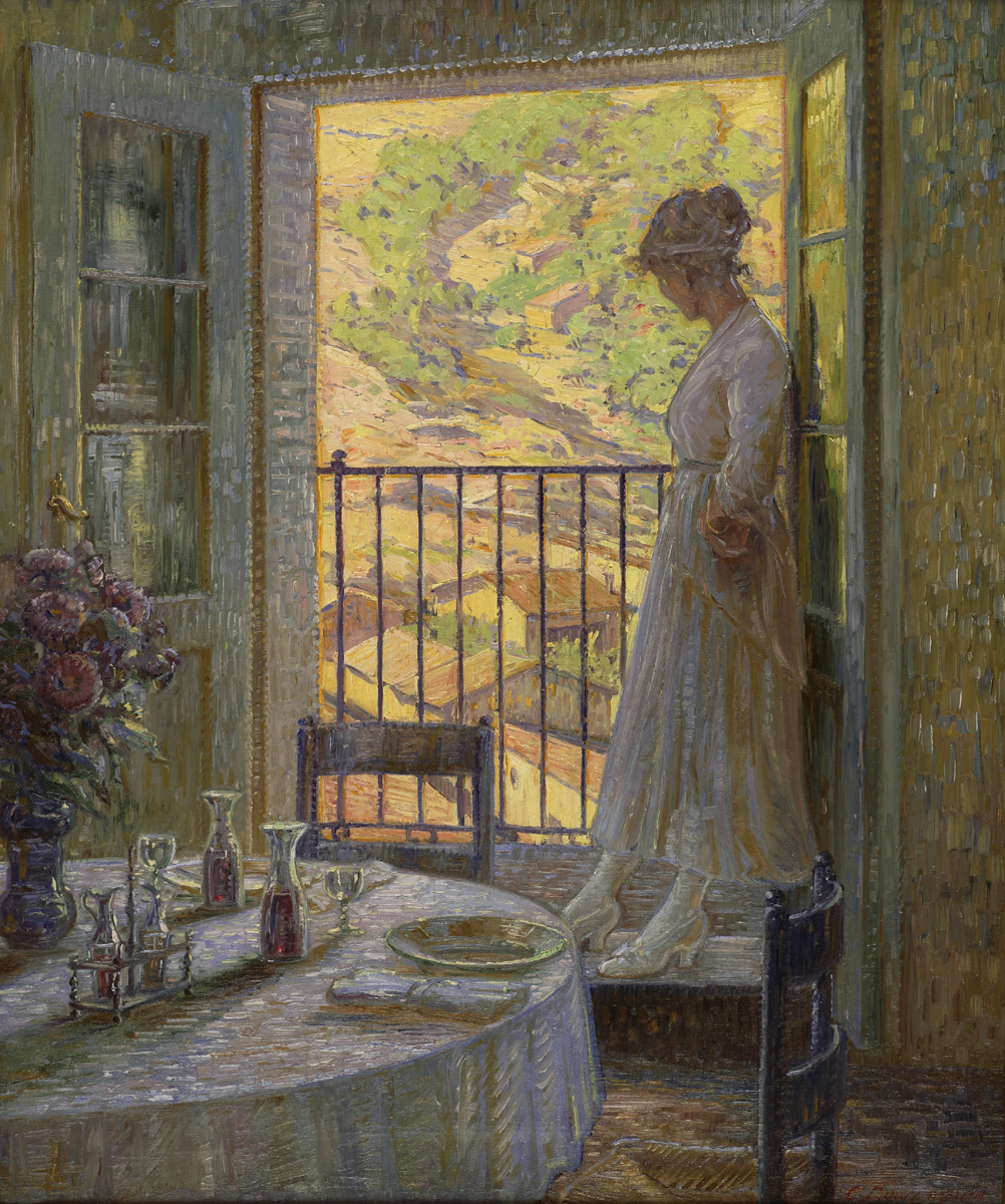 Carl Budtz-moller (Danish 1882-1953) In Thought, Anticoli, Italy