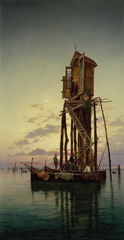 Hermann David Salomon Corrodi (Italian 1844-1905) A Venetian Shrine