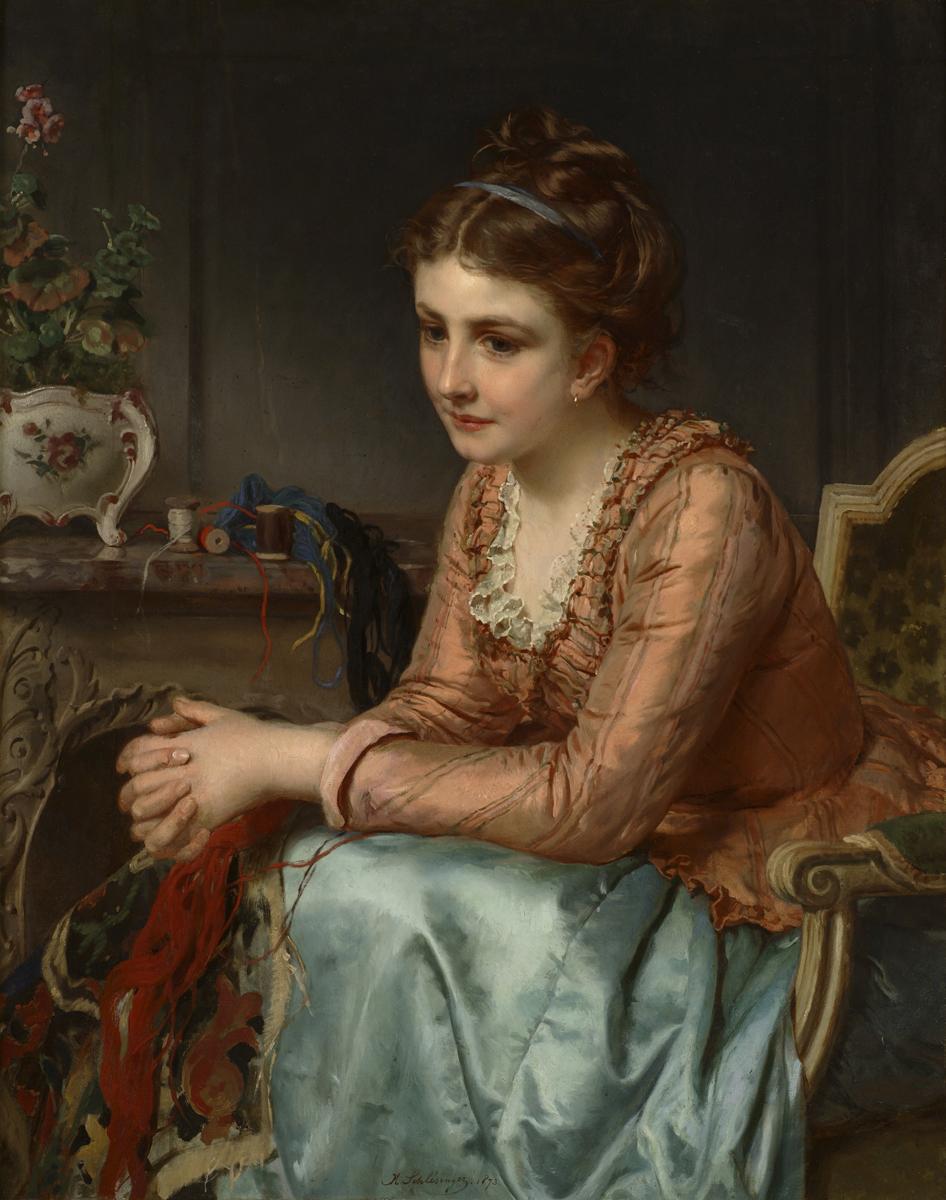 Schlesinger, Henry Guillaume (French 1814-1893) Reflection