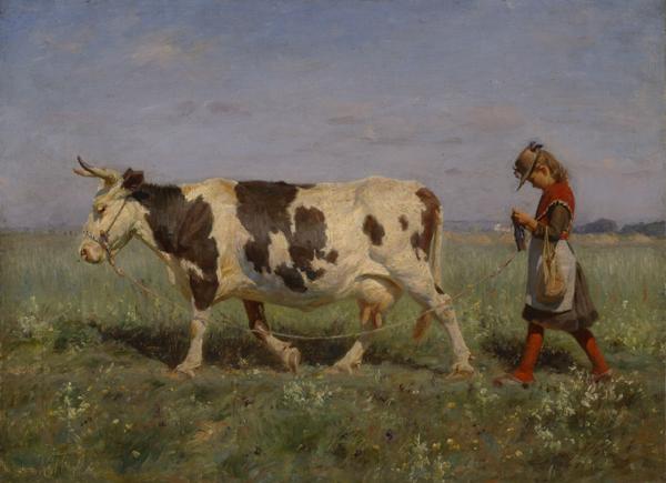 Michael Therkildsen (Danish 1850-1925) Going Home