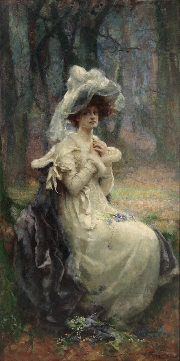 Henrietta Rae Normand (British 1859-1928) First Flowers Of Spring