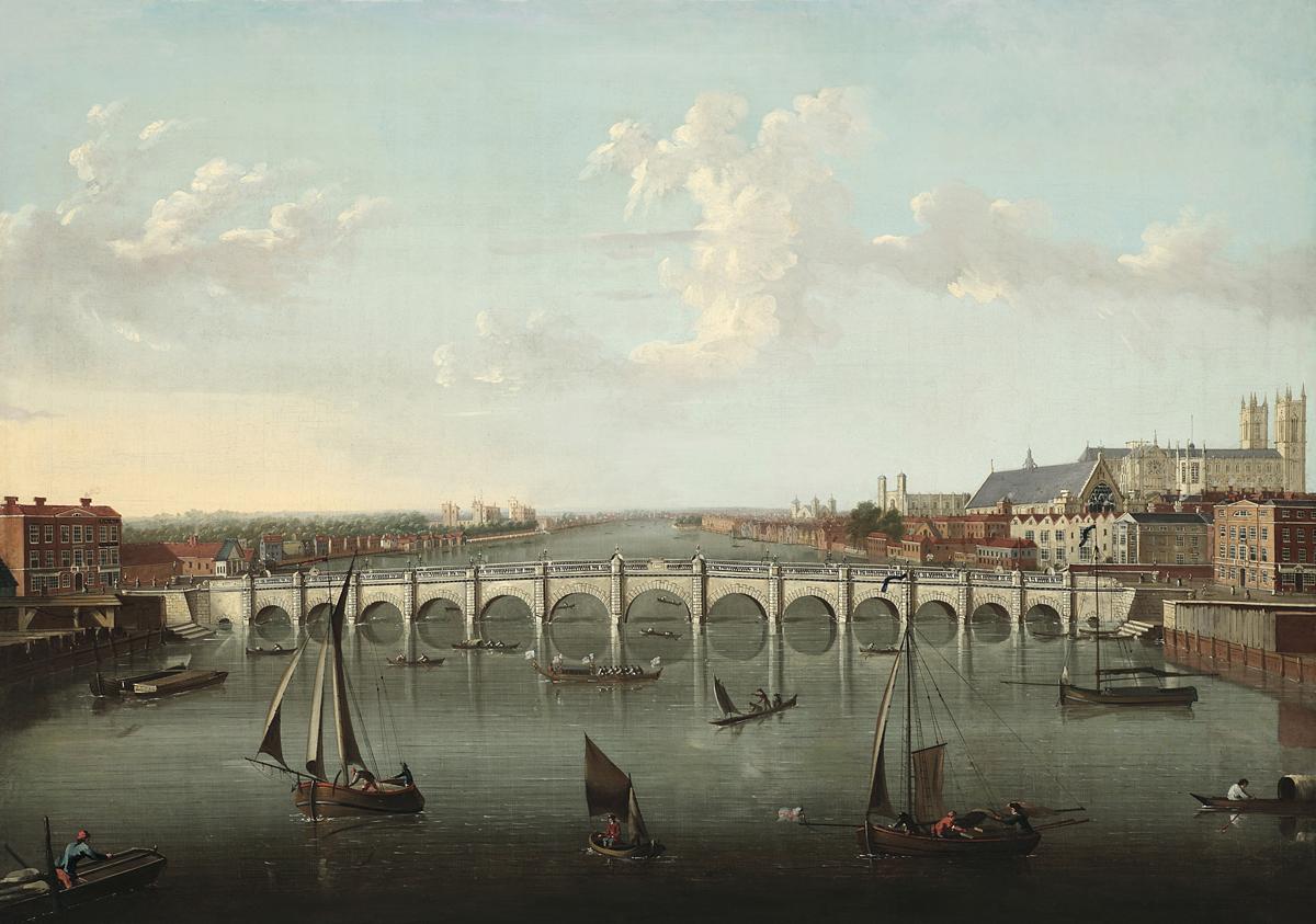 Joseph Nickolls (Attributed To) (British 1692-1760) View Of Westminster Bridge, London
