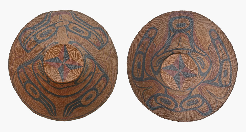 Isabella & Charles Edenshaw (Haida 1858 & 1839-1926 & 1920) Frog & Whale Hats