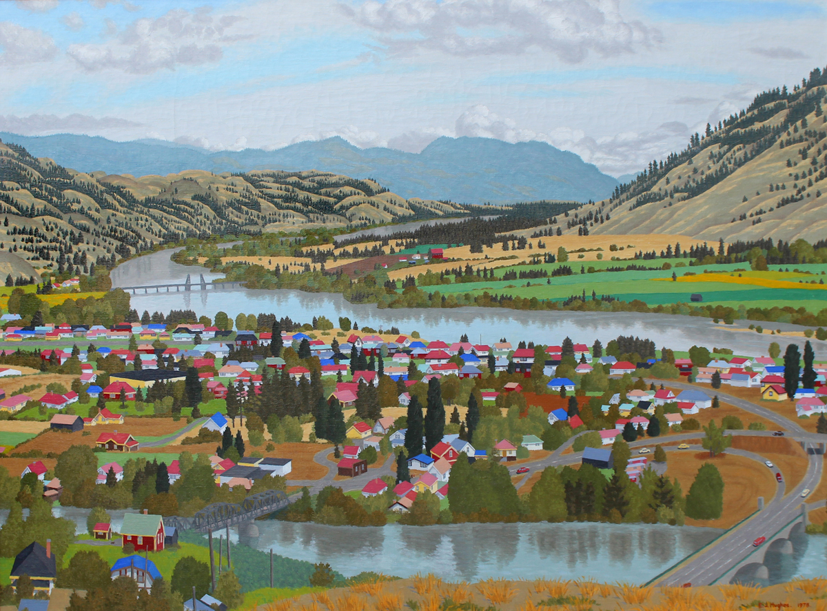 Edward John Hughes (E.J.) (Canadian 1913-2007) View Of North Kamloops