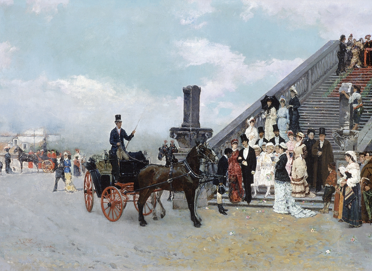 Matteo Lovatti (Italian 1831-?) The Celebration