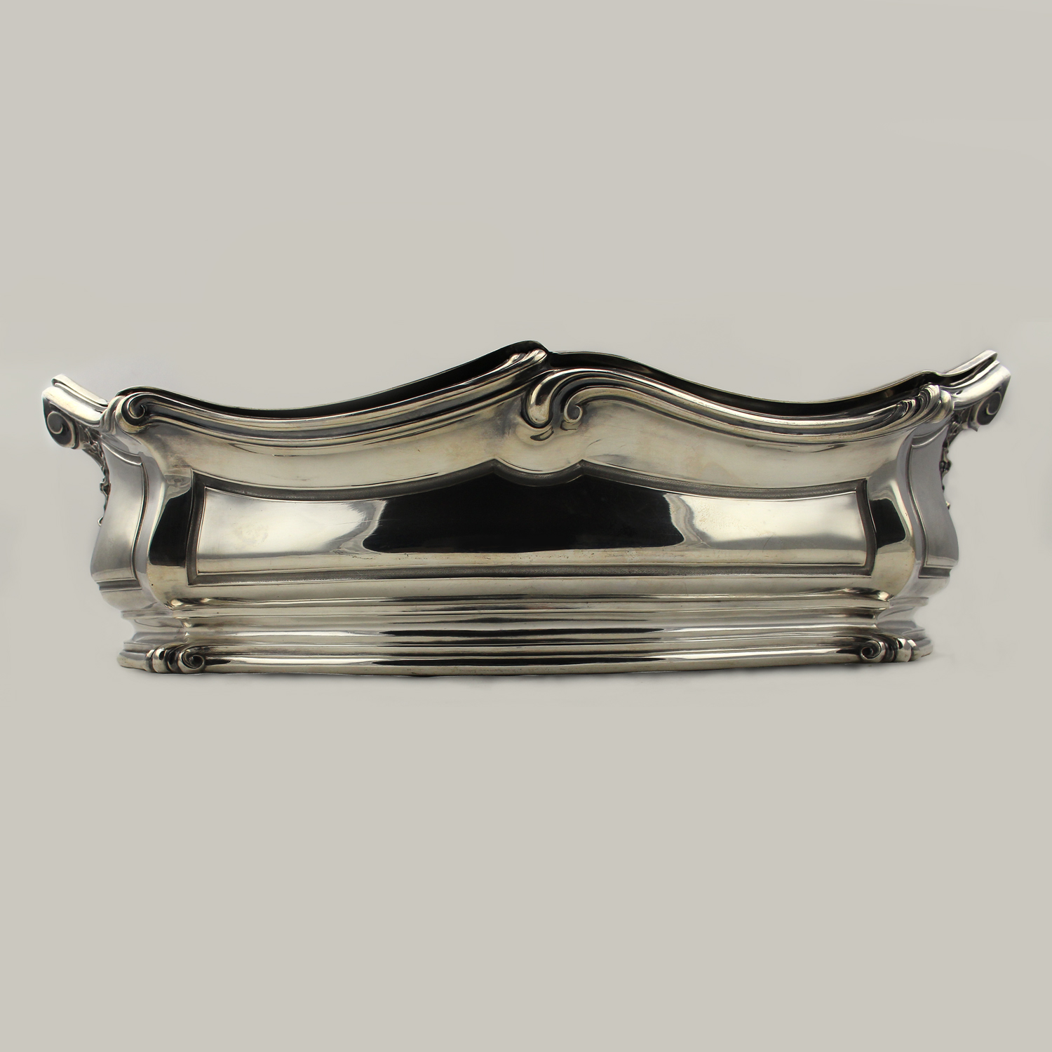Silver French Shaped Oval Centerpiece