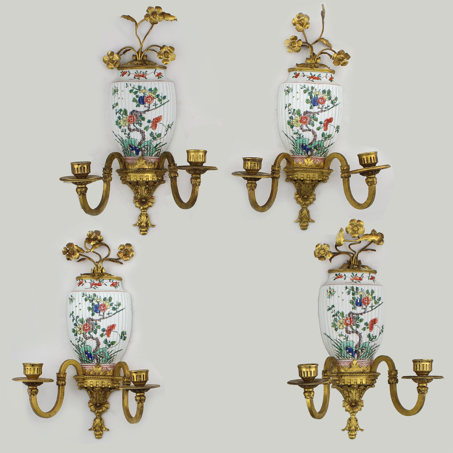 Set of Four French Wall Sconces