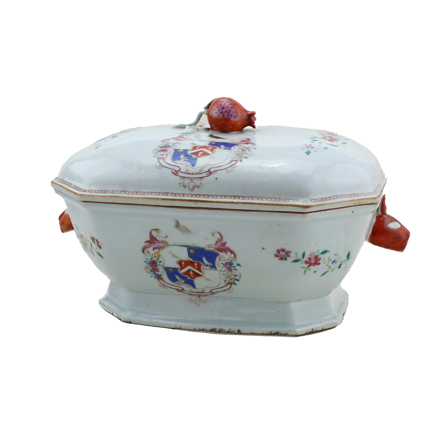 Chinese Export Armorial tureen with cover, 18th/19th century