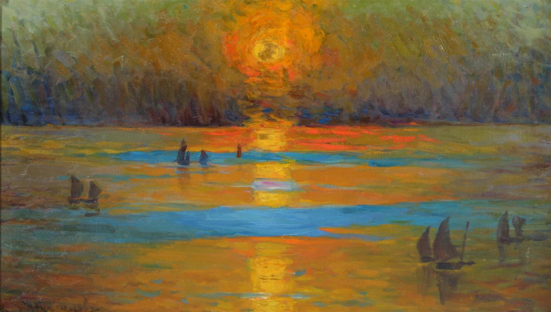 Kuznetsov seascape ships sunset.jpg