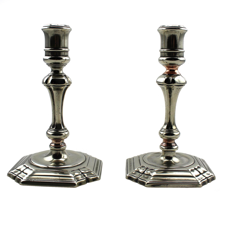 Chinese export Paktong candlesticks