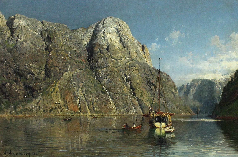 Anders Askevold (Norwegian 1834-1900) Svams-Nosc In Navo Fjord.jpg