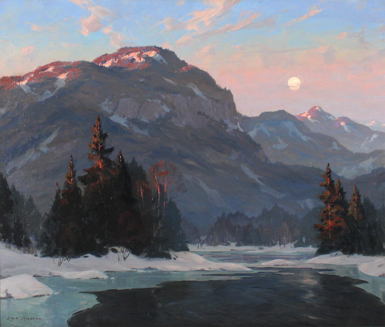Eric Riordon (Canadian 1906-1948)Moonrise at Sundown