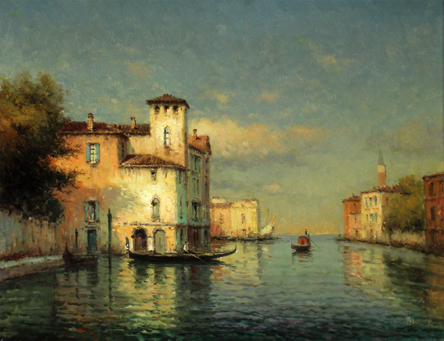 Antoine Bouvard (French 1913-1972) A View of Venice