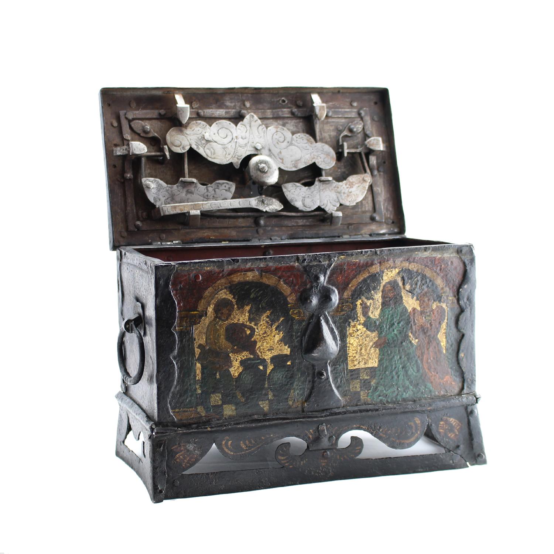 German Steel Strong Box, German 17th Century