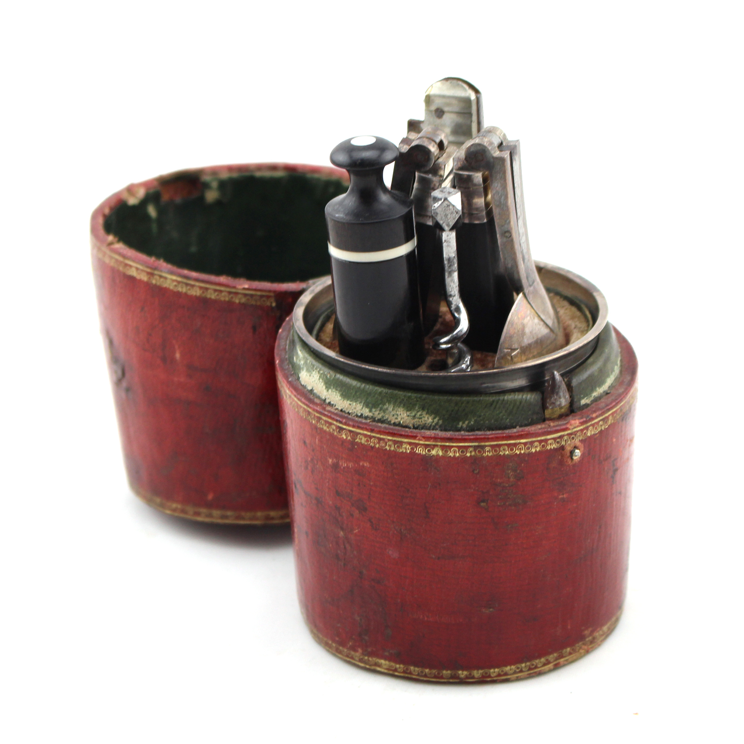 French travelers leather tableware case