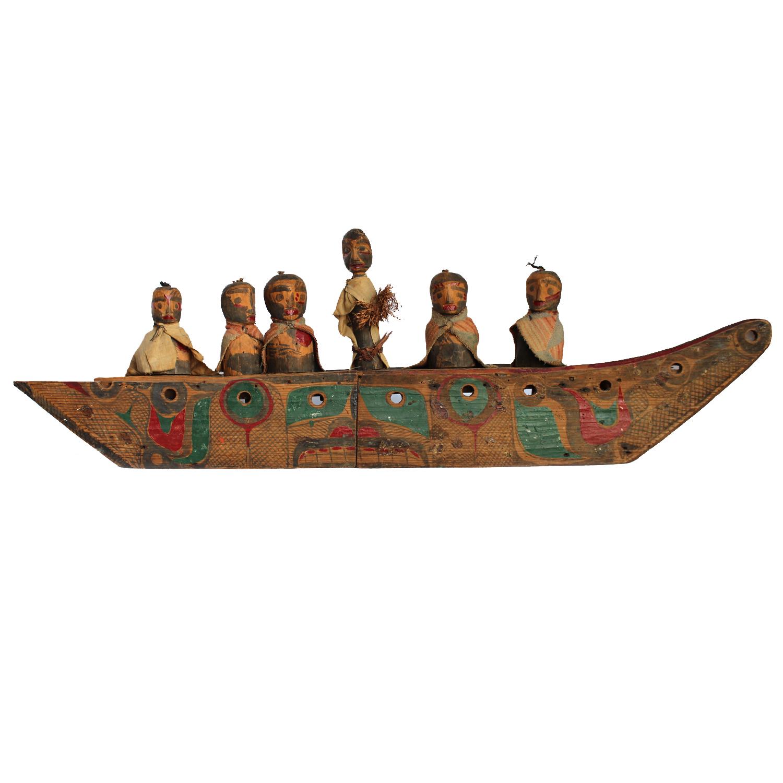 Kwakwaka'wakw Model Canoe, Circa 1900